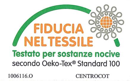certificato oeko-tex sitab gomma piuma