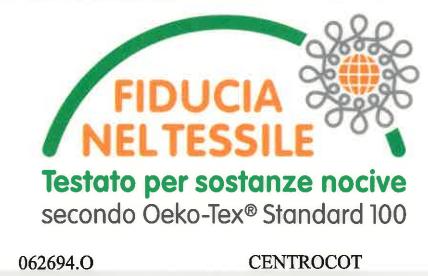 certificato oeko-tex olmo gomma piuma